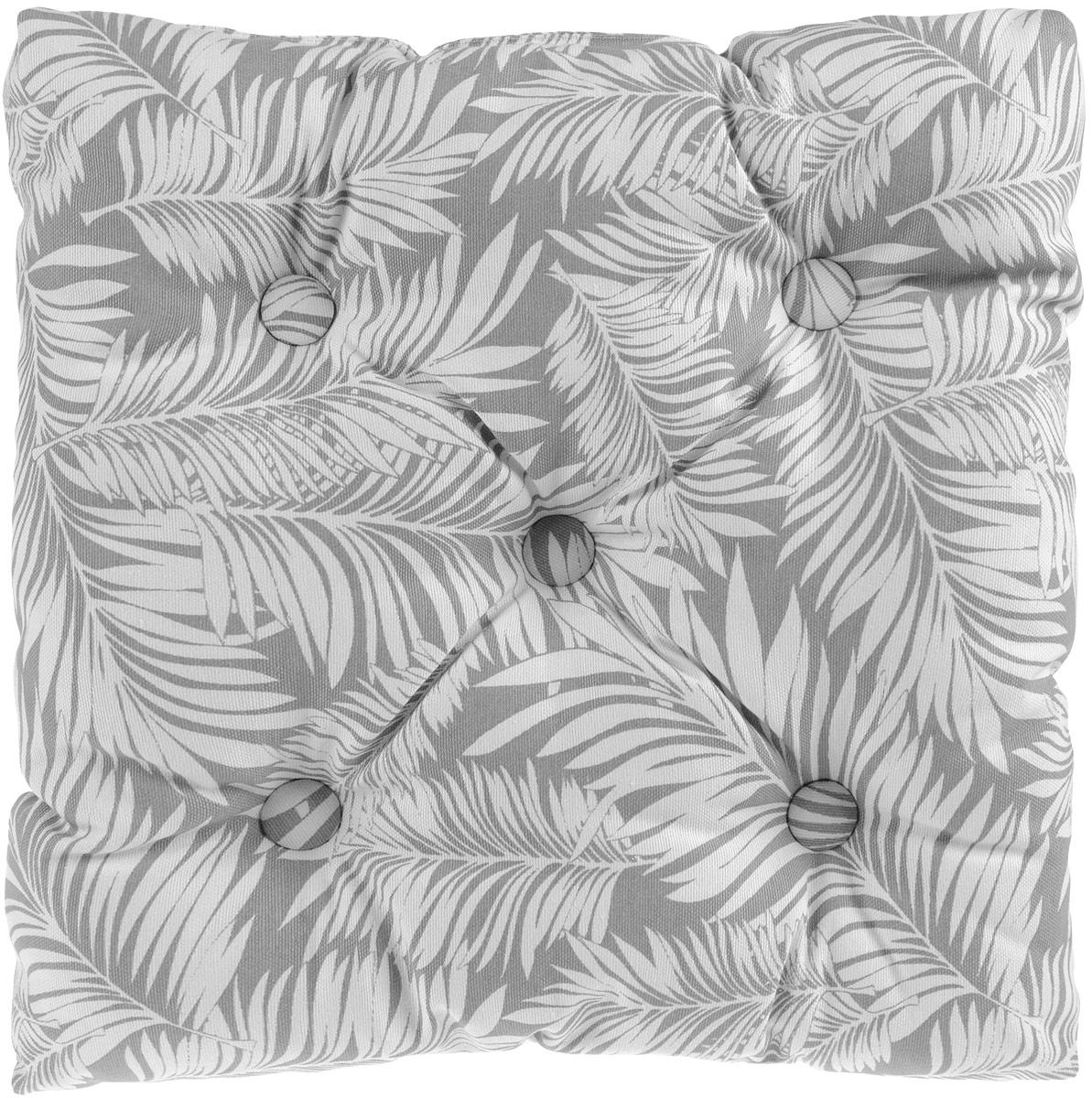 Подушка на стул KauffOrt Пальма, цвет: серый, 40 x 40 см02334-СК-ГБ-003Подушка на стул KauffOrt Пальма не только красиво дополнит интерьер кухни, но и обеспечит комфорт при сидении. Чехол выполнен из хлопка и полиэстера, а наполнитель из холлофайбера. Подушка легко крепится на стул с помощью завязок. Правильно сидеть - значит сохранить здоровье на долгие годы. Жесткие сидения подвергают наше здоровье опасности. Подушка с мягким наполнителем поможет предотвратить большинство нежелательных последствий сидячего образа жизни.Толщина подушки: 8 см.