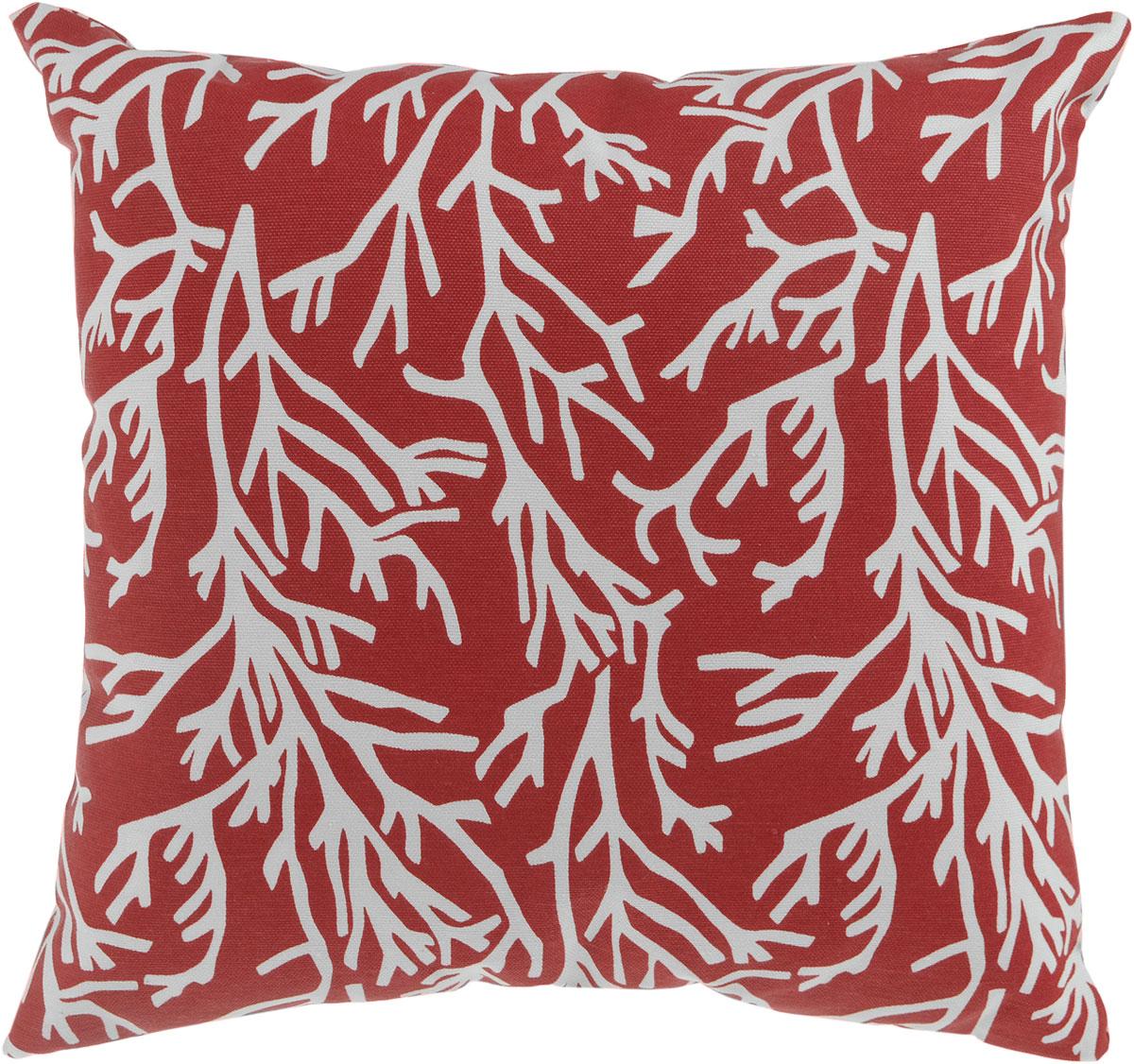 Подушка декоративная KauffOrt Красное море, 40 x 40 см3121300635Декоративная подушка Красное море прекрасно дополнит интерьер спальни или гостиной. Мягкий на ощупь чехол подушки выполнен из 25% полиэстера и 75% хлопка. Внутри находится мягкий наполнитель, выполненный из холлофайбера. Чехол легко снимается благодаря потайной молнии.Красивая подушка создаст атмосферу уюта и комфорта в спальне и станет прекрасным элементом декора.