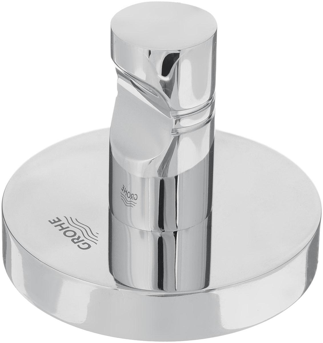 Крючок Grohe Essentials, 5 х 5 х 4,5 см40364001Крючок Grohe Essentials изготовлен из высококачественной латуни. Крючок крепится к поверхности при помощи саморезов. Все необходимое для крепления крючка к стене входит в комплект.Такой крючок прекрасно впишется в интерьер ванной комнаты и поможет эффективно организовать пространство.