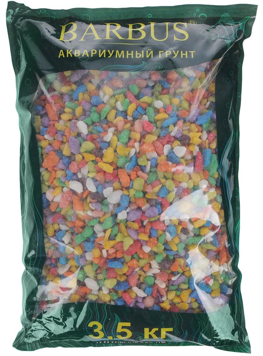 Грунт для аквариума Barbus Микс, натуральный, каменная крошка, цвет: синий, зеленый, желтый, 5-10 мм, 3,5 кг грунт для аквариума barbus феодосия 4 натуральный галька 20 40 мм 3 5 кг