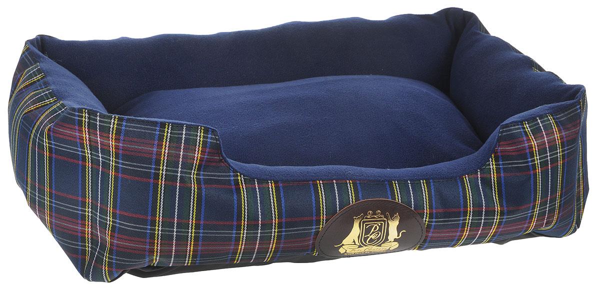 Лежак для животных ЗооМарк Pets Couture №1, цвет: синий, 52 х 37 х 13 см0120710Лежак ЗооМарк Pets Couture обязательно понравится вашему питомцу. Он выполнен из высококачественных материалов, а наполнитель из мягкого синтепуха. Такой материал не теряет своей формы долгое время. Изделие оснащено съемной подстилкой. Высокие борта обеспечат вашему любимцу уют, ему сразу же захочется забраться на лежак, там он сможет отдохнуть и подремать в свое удовольствие. Мягкий лежак станет излюбленным местом вашего питомца, подарит ему спокойный и комфортный сон, а также убережет вашу мебель от многочисленной шерсти.