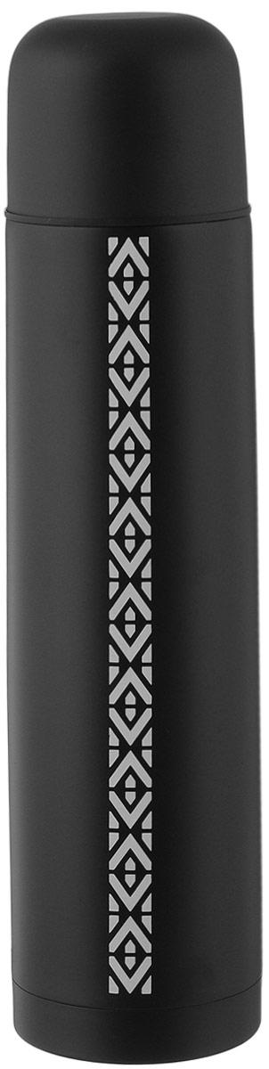 Термос Airline, цвет: черный, белый, 1 лIT-04Термос Airline выполнен из качественной нержавеющей стали, которая не вступает в реакцию с содержимым термоса и не изменяет вкусовых качеств напитка. Двойная стенка из нержавеющей стали сохраняет температуру ваших напитков до 20 часов.Вакуумный закручивающийся клапан предохраняет от проливаний, а удобная кнопка-дозатор избавит от необходимости каждый раз откручивать крышку. Крышку можно использовать как чашку. Цветное покрытие обеспечивает защиту от истирания корпуса. Данная модель термоса прочная, долговечная и в тоже время легкая. Изделие упаковано в удобный чехол. Стильный металлический термос понравится абсолютно всем и впишется в любой интерьер кухни.Не рекомендуется мыть в посудомоечной машине.Диаметр горлышка: 5 см.Диаметр основания термоса: 8 см.Высота термоса: 31 см.