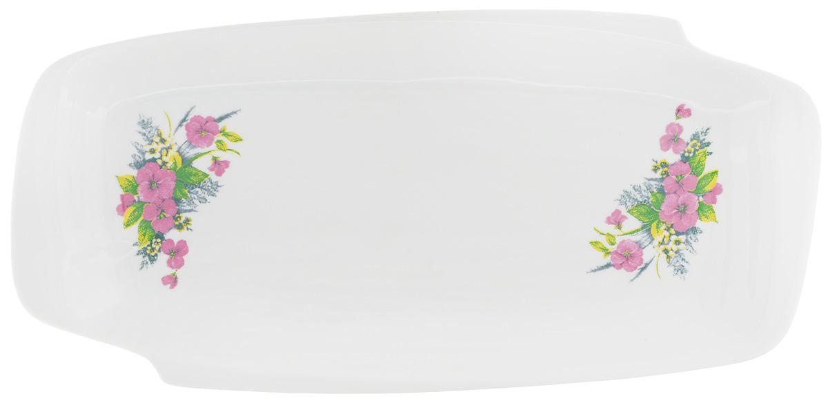 Селедочница Фарфор Вербилок Виола, 28,5 х 13,5 х 3 см115510Селедочница Фарфор Вербилок Виола изготовлена из высококачественного фарфора и декорирована цветочным рисунком. Изделие идеально подходит для сервировки сельди в нарезке, а также разных видов закусок. Изумительное сервировочное блюдо-селедочница Фарфор Вербилок Виола станет изысканным украшением вашего праздничного стола.Размеры селедочницы: 28,5 х 13,5 см.Высота: 3 см.