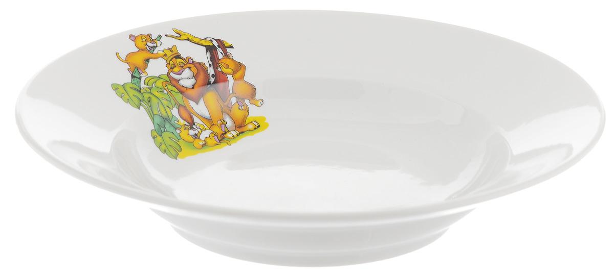 Тарелка глубокая Фарфор Вербилок Лев, диаметр 19 см1035420Тарелка Фарфор Вербилок Лев, изготовленная из высококачественного фарфора, имеет классическую круглую форму. Она прекрасно впишется в интерьер вашей кухни и станет достойным дополнением к кухонному инвентарю. Идеально подойдет для подачи супов. Тарелка Фарфор Вербилок Лев подчеркнет прекрасный вкус хозяйки и станет отличным подарком.Диаметр тарелки (по верхнему краю): 19 см.Высота тарелки: 4 см.