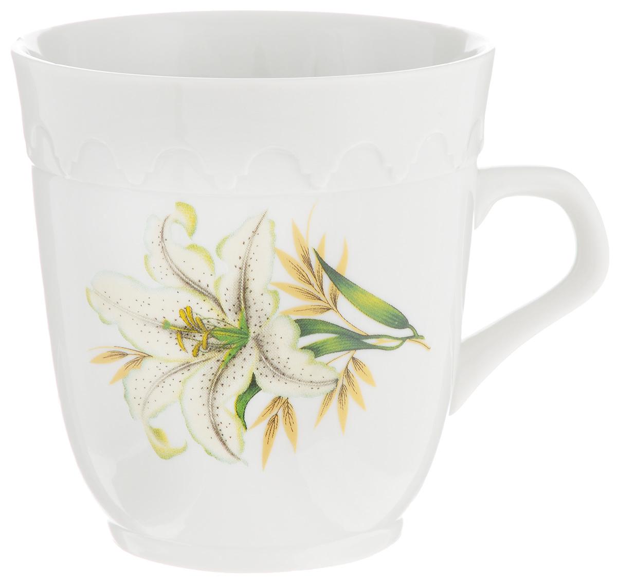 Кружка Фарфор Вербилок Арабеска. Белая лилия, 250 мл24321980Кружка Фарфор Вербилок Арабеска. Белая лилия способна скрасить любое чаепитие. Изделие выполнено из высококачественного фарфора. Посуда из такого материала позволяет сохранить истинный вкус напитка, а также помогает ему дольше оставаться теплым.Диаметр по верхнему краю: 8,3 см.Высота кружки: 9 см.