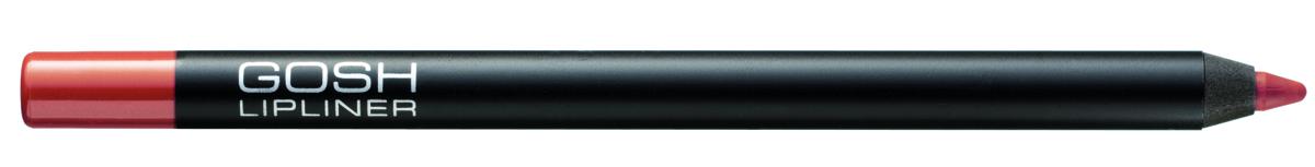 Gosh, Карандаш для губ Velvet Touch водостойкий, 1,2 г, 008796393Водостойкий контур для губ с мягкой текстурой предотвращает затекание помады в складочки губ и не дает ей растекаться за контур. GOSH Velvet Touch Lipliner содержит высокотехнологичные цветовые пигменты, которые обеспечивают легкое нанесение и непревзойденную стойкость цвета в течение всего дня. Может использоваться в сочетании с помадой или блеском для губ, а также самостоятельно - для экстремально стойкого и матового финиша. Формула обогащена маслом Жожоба и витамином Е для ухода за нежной кож