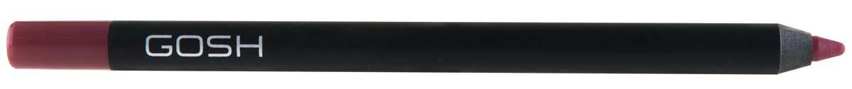 Gosh, Карандаш для губ Velvet Touch водостойкий, 1,2 г, 00959987Водостойкий контур для губ с мягкой текстурой предотвращает затекание помады в складочки губ и не дает ей растекаться за контур. GOSH Velvet Touch Lipliner содержит высокотехнологичные цветовые пигменты, которые обеспечивают легкое нанесение и непревзойденную стойкость цвета в течение всего дня. Может использоваться в сочетании с помадой или блеском для губ, а также самостоятельно - для экстремально стойкого и матового финиша. Формула обогащена маслом Жожоба и витамином Е для ухода за нежной кож
