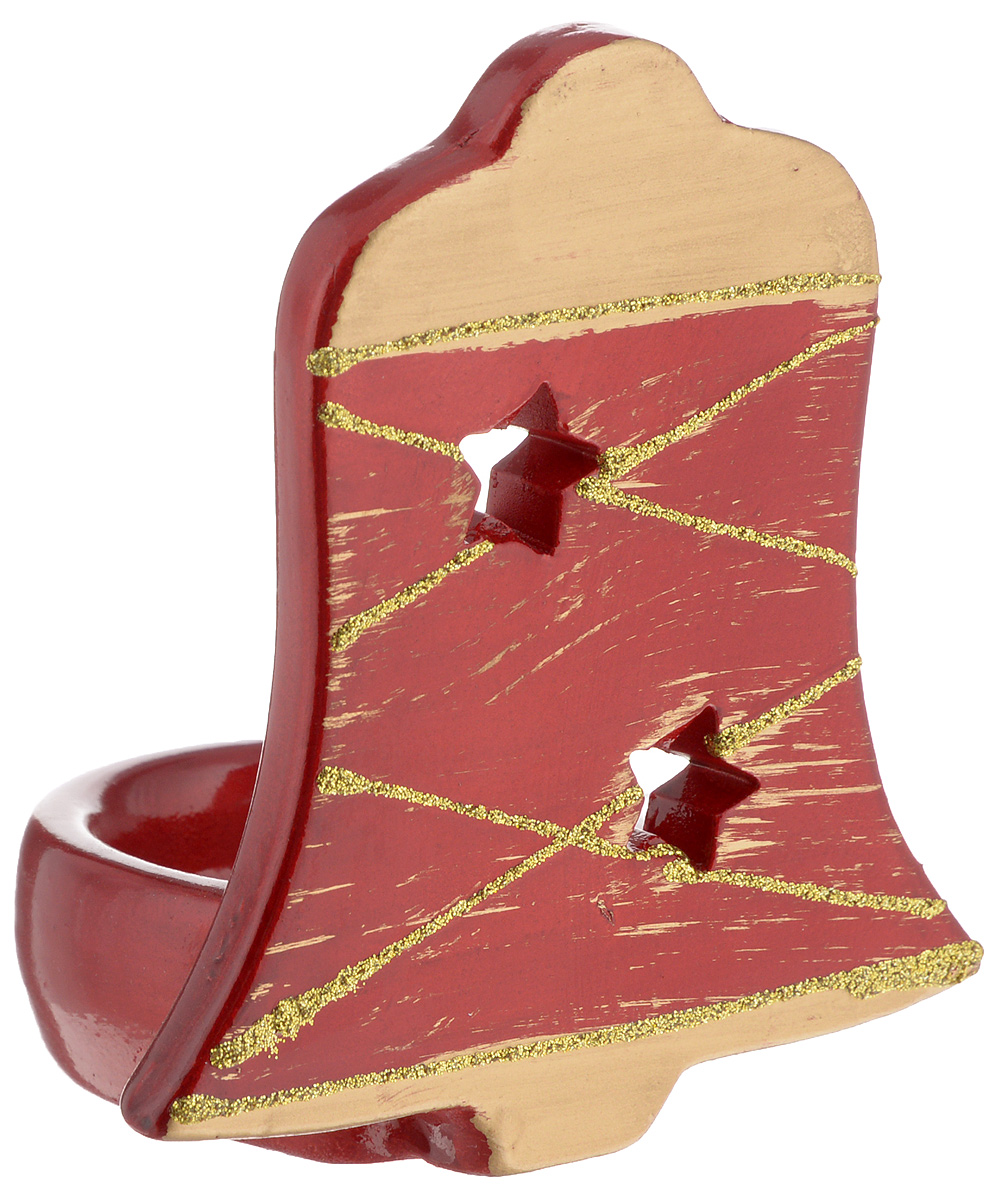Подсвечник House & Holder, высота 10,5 смБрелок для ключейПодсвечник House & Holder, выполненный из керамики, украсит интерьер вашего дома или офиса. Оригинальный дизайн создаст праздничное настроение. Подсвечник выполнен в форме колокольчика и украшен блестками. Вы можете поставить подсвечник в любом месте, где он будет удачно смотреться, и радовать глаз. Кроме того - это отличный вариант подарка для ваших близких и друзей.