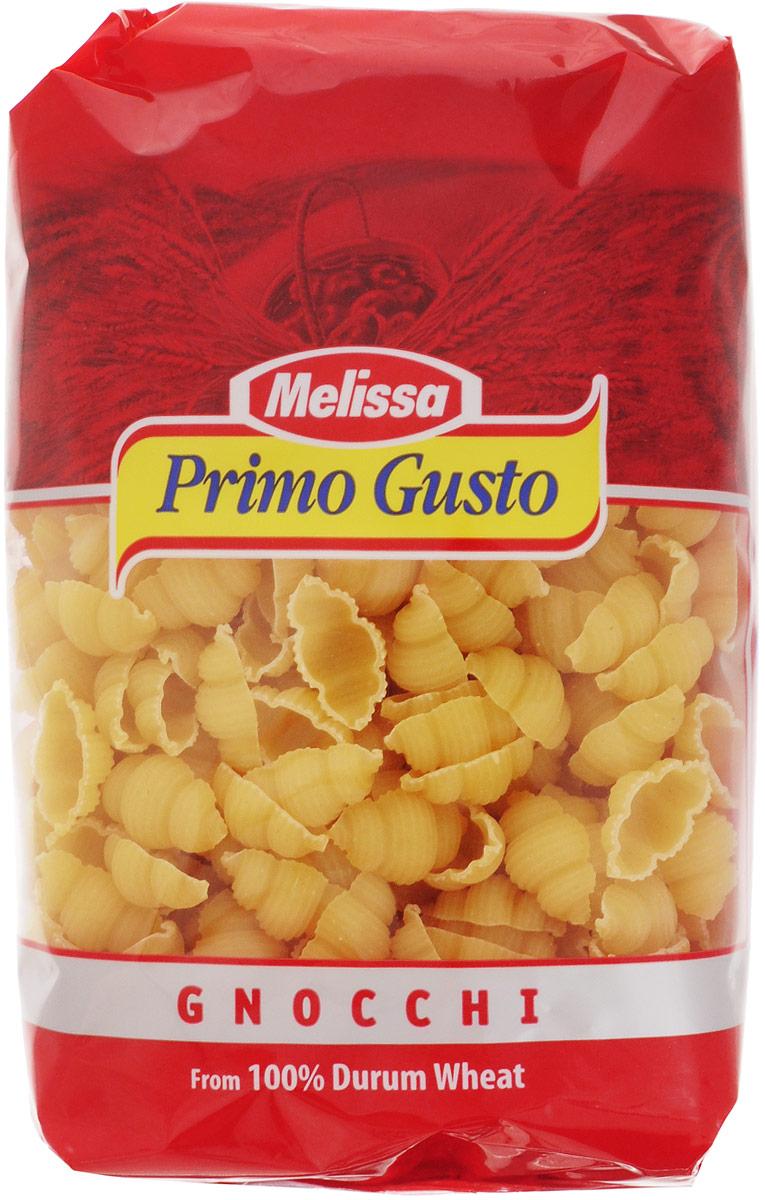 Melissa-Primo Gusto Паста Гнохи, 500 г0120710Этот вид макаронных изделий крайне популярен в Средиземноморской кухне. Пасты Melissa-Primo Gusto изготовлены из муки грубых сортов, что делает макаронные изделия полезными и безопасными для фигуры. Такие макароны можно употреблять даже при строгой диете.Паста имеет светлый оттенок, как в сыром, так и в готовом виде, и сохраняет идеальную текстуру при приготовлении.Варить макароны 10-11 минут.