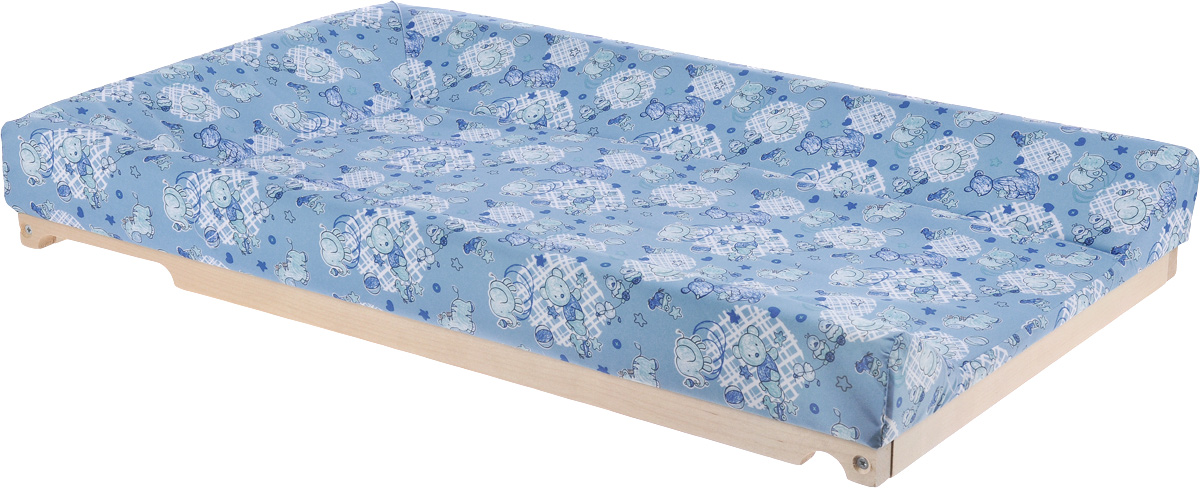 Фея Доска пеленальная Люкс цвет серо-голубой