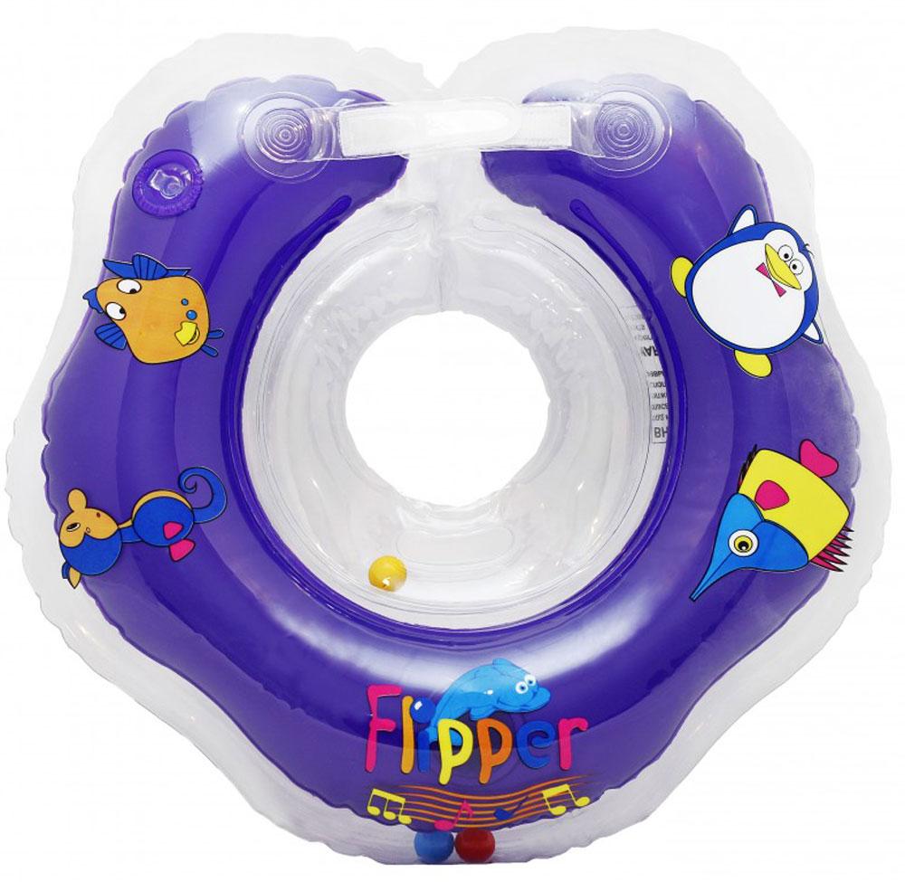 Roxy-kids Круг музыкальный на шею для купания Flipper -  Круги для купания