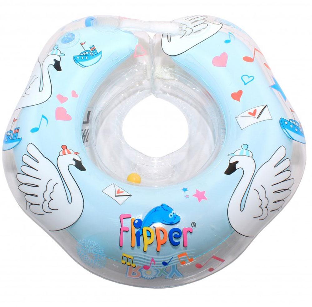 Roxy-kids Круг музыкальный на шею для купания Flipper Лебединое озеро цвет голубой -  Круги для купания