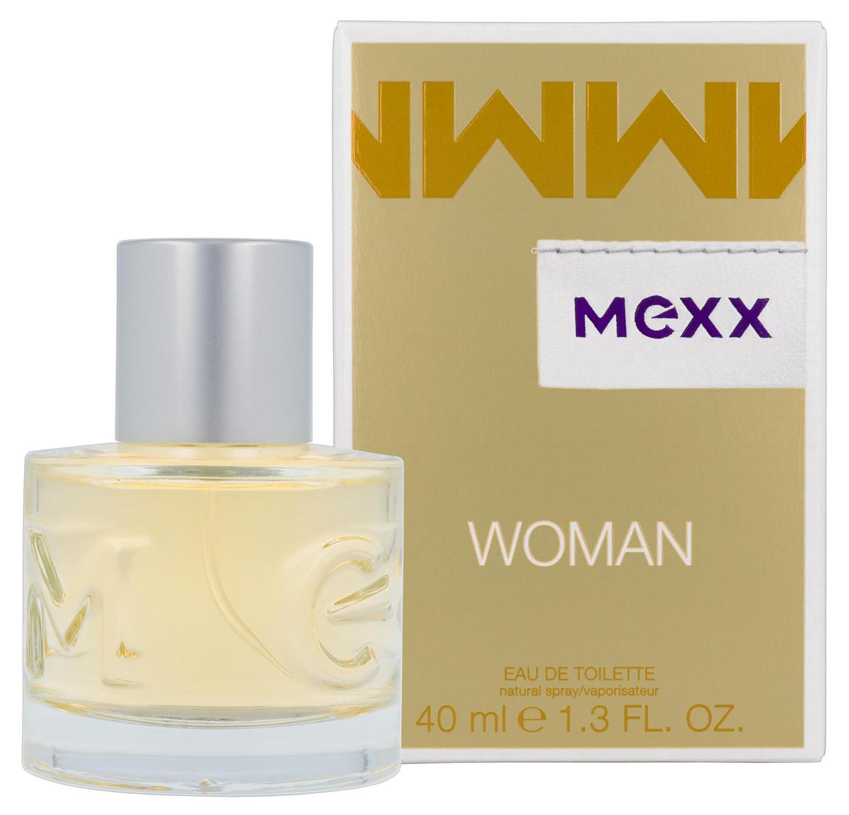 Mexx Woman Туалетная вода 40 мл0737052682433Woman - очень женственный и уверенный аромат. Классификация аромата: цветочный, восточный. Пирамида аромата: верхние ноты: бергамот, черная смородина, лимон, ноты сердца: роза, жасмин, ландыш, ноты шлейфа: сандал, кедр, амбра.Верхняя нота: Бергамот, Черная смородина.Средняя нота: Ландыш, Роза, Жасмин.Шлейф: Амбра.Женственная комбинация фруктовых, цветочных и древесных нот.Дневной и вечерний аромат.