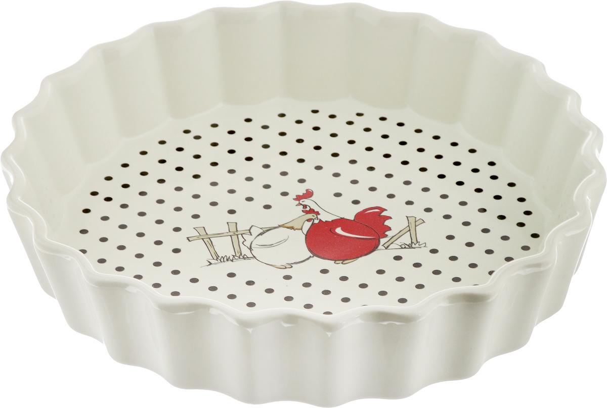 Блюдо для запекания Olaff, круглое, диаметр 25 см68/5/4Блюдо для запекания Olaff, изготовленное из высококачественной жаропрочной керамики, идеально подойдет для приготовления блюд в духовке, а также сервировки стола. Блюдо станет отличным дополнением к вашему кухонному инвентарю и подчеркнет прекрасный вкус хозяина.Диаметр: 25 см. Высота стенки: 5 см.