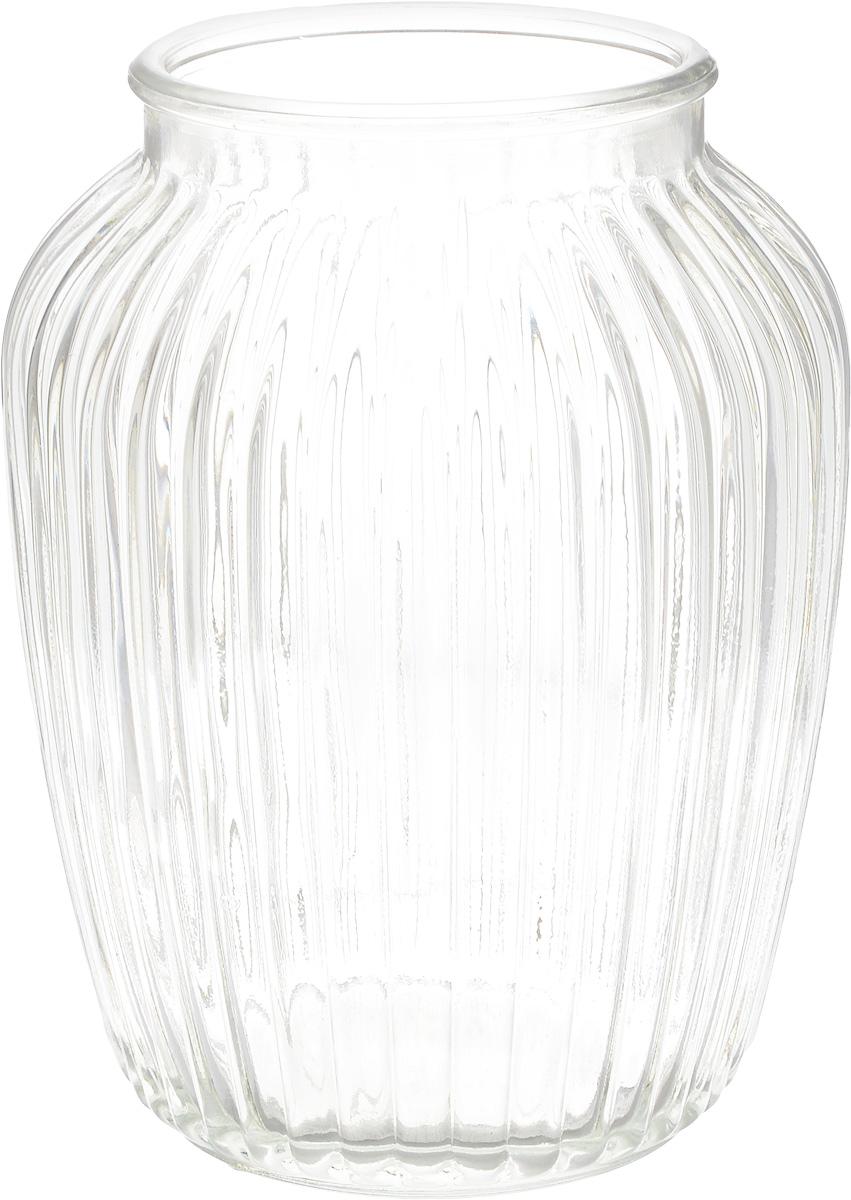 Ваза Nina Glass Луана, цвет: прозрачный, высота 19,5 смNG92-021M_прозрачныйВаза Nina Glass Луана выполнена из высококачественного натрий-кальций-силикатного стекла. Изделие имеет изысканный внешний вид и рельефную поверхность. Такая ваза станет ярким украшением интерьера и прекрасным подарком к любому случаю. Не рекомендуется использовать в СВЧ и мыть в посудомоечной машине.Диаметр вазы (по верхнему краю): 10 см. Высота вазы: 19,5 см.Посуду нельзя использовать в СВЧ и мыть в ПММ.