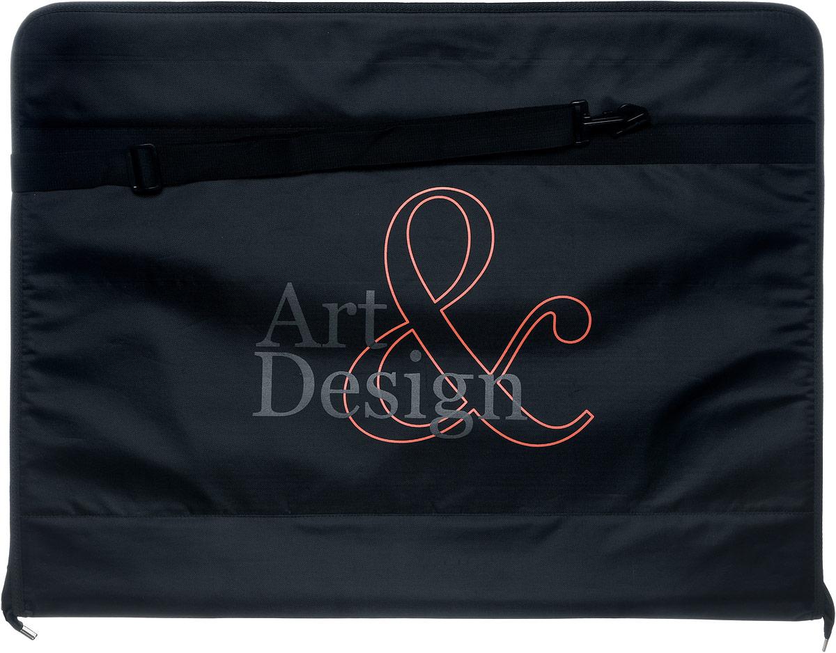 Папка художника Аntan Art&Design, цвет: черный. 6-23/1FS-36052Папка художника Аntan выполнена из высококачественного полиэстера и оформлена фирменным изображением. Папка оснащена удобными ручками и съемным плечевым ремнем, длина которого регулируется с помощью пряжки. Внутри расположено главное отделение, которое содержит четыре эластичные резинки на липучках. Изделие закрывается на застежку-молнию.