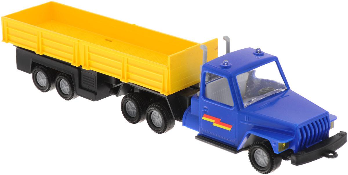 Форма Автоприцеп Урал цвет голубой желтый игровая техника огонек игрушечные весы для сюжетно ролевой игры магазин