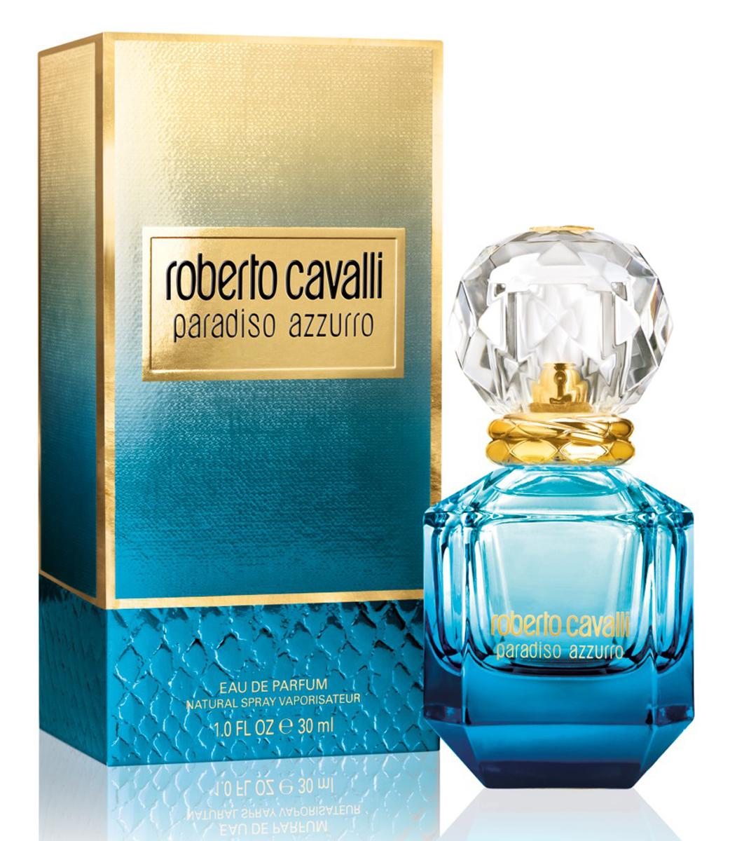 Roberto Cavalli Paradiso Azzurro Парфюмерная вода женская 30 мл75777063000Женщина Roberto Cavalli Paradiso излучает шарм, радость и свет. Она - уверена и счастлива. Она берет от жизни все и превращает каждый ее миг в бесценную возможность, которую нужно использовать и ценить. Утонченный цветочно-лесной аромат стал симфонией солнечных нот, навеянных итальянскими пейзажами. Дразнящая прелюдия бергамота и лаванды, щедрая смесь дикого жасмина и кипариса, сандала и ванили. Это свежее и радостное начало, искрящееся жизнью и светом. За ним следует главная нота - дикий жасмин, вносящий роскошные обертоны ненасытной чувственности.Верхняя нота: Бергамот, Лаванда и Танжерин.Средняя нота: Дикий жасмин, Водные ноты, Яблоко, Персик, Роза и Тубероза.Шлейф: Кипарис, Кашмирское дерево, Древесный янтарь, Сандал и Ваниль.Утонченный цветочно-лесной аромат стал симфонией солнечных нот, навеянных итальянскими пейзажами.Дневной и вечерний аромат.
