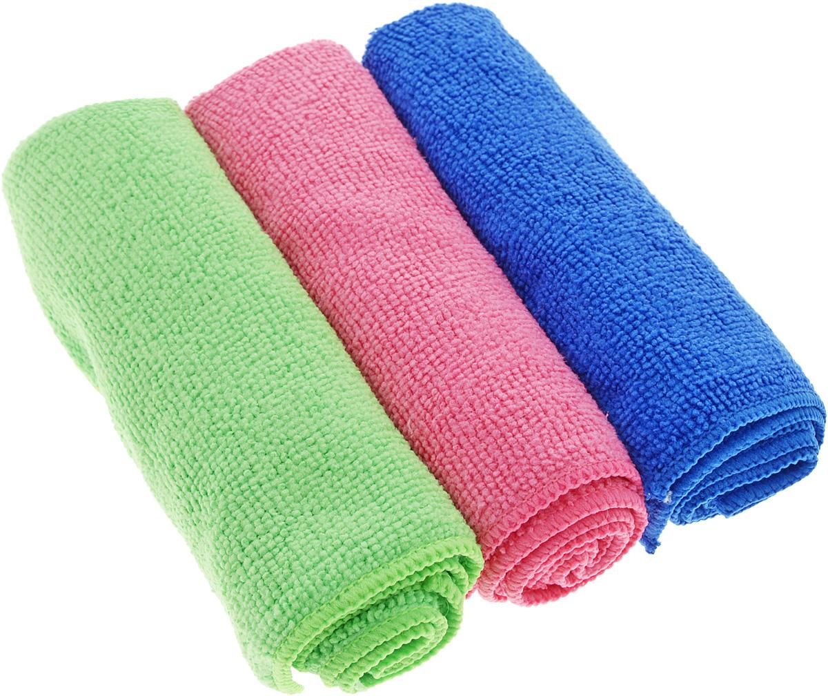 Набор салфеток для уборки Sol, из микрофибры, цвет: синий, салатовый, розовый, 30 x 30 см, 3 шт790009Набор салфеток Sol выполнен из микрофибры. Микрофибра - это ткань из тонких микроволокон, которая эффективно очищает поверхности благодаря капиллярному эффектумежду ними. Такая салфетка может использоватьсякак для сухой, так и для влажной уборки. Деликатно очищает любые поверхности, не оставляя следов и разводов. Идеально подходит для протирки полированной мебели. Сохраняетсвои свойства после стирки.Размер салфетки: 30 х 30 см.