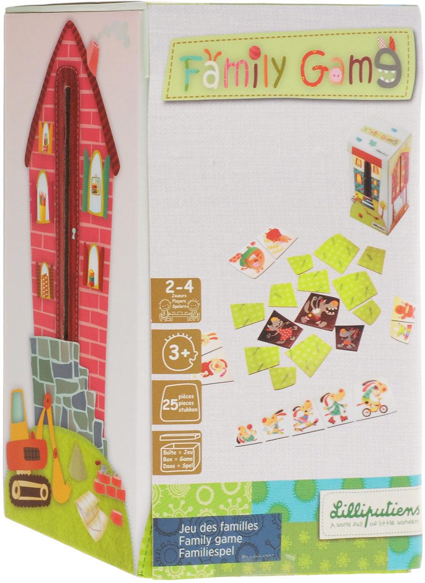 Lilliputiens Пазл для малышей Собери семью lilliputiens ферма кольцо с мягкими игрушками