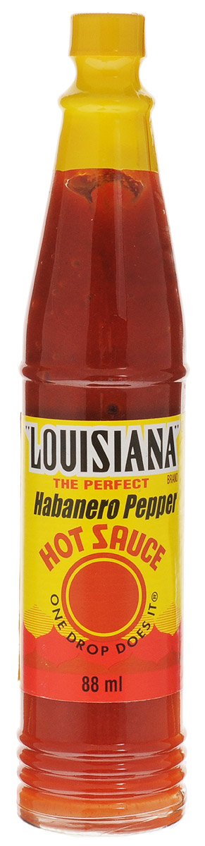 Louisiana Хабанеро соус острый перечный, 88 мл121422Соус Louisiana Хабанеро - острый перечный соус, лучшая приправа к блюдам из мяса, птицы, морепродуктов. Может использоваться как ингредиент для приготовления, маринад.