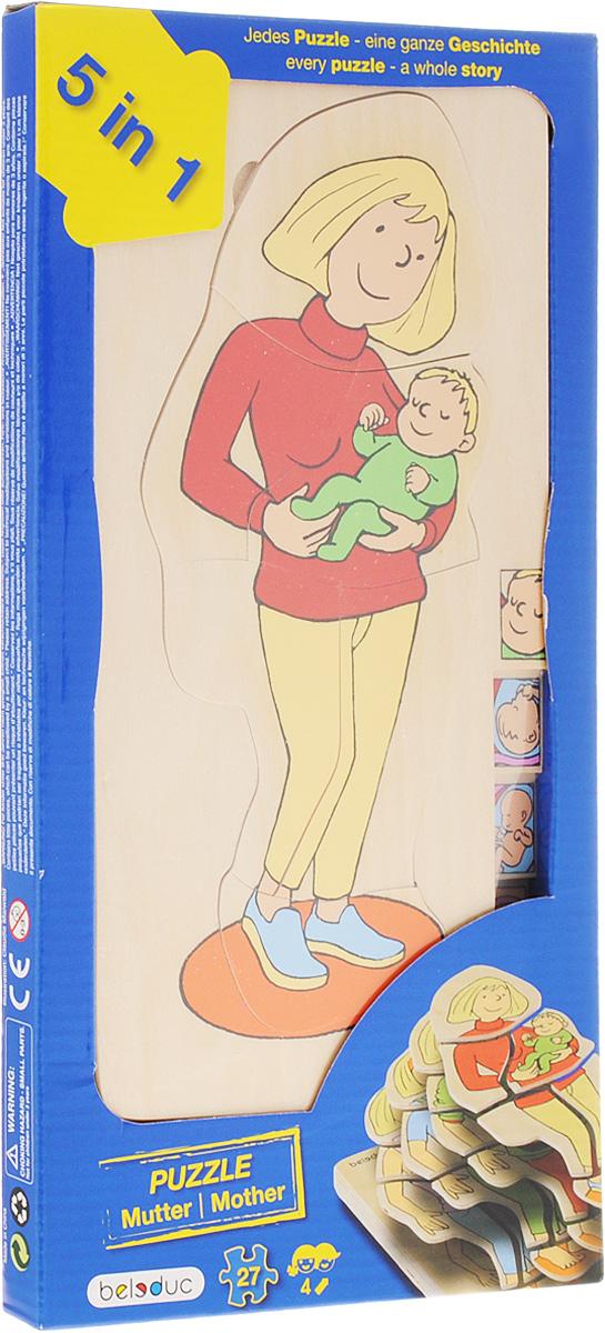 Beleduc Пазл для малышей Мамочка 5 в 1 beleduc развивающая игрушка зоопарк