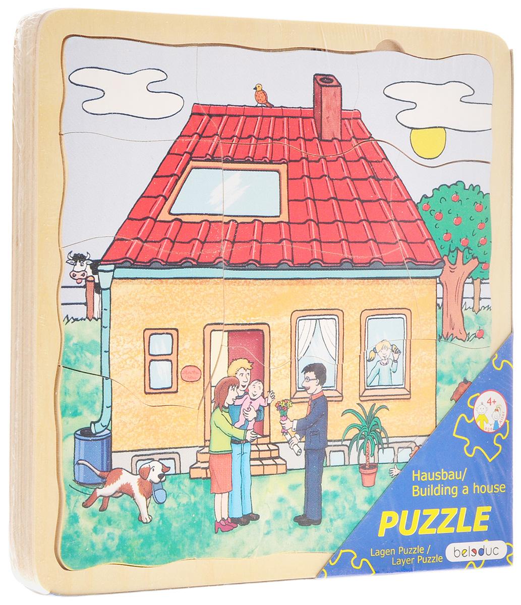 Beleduc Пазл для малышей Строим дом -