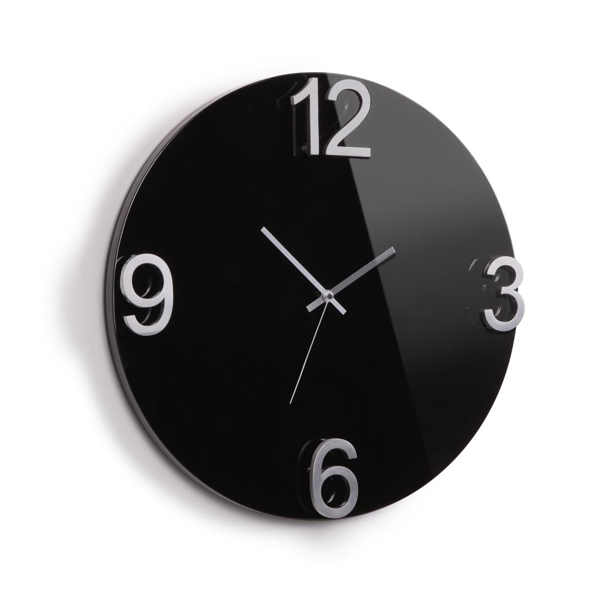 Часы настенные Umbra Elapse, цвет: черныйRG-D31SОригинальные настенные часы, выполненные в минималистском стиле.Основа из массива дерева с глянцевым покрытием и металлическими цифрами выглядит дорого и изысканно.Механизм работает при помощи 1 батарейки АА (батарейка в комплект не входит).