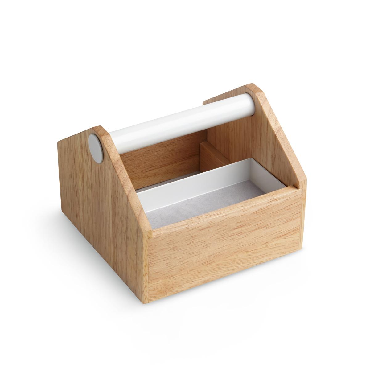 Шкатулка для украшений Umbra Toto, малаяKT400(4)Шкатулка для украшений Umbra Toto выполнена из дерева и металла. Эргономичная ручка для переноски, выдвигающиеся ящички и отделения разного размера - удобно для хранения косметики, украшений и даже офисных принадлежностей.Размеры: 12,7 x 12.7 x 10.2 см