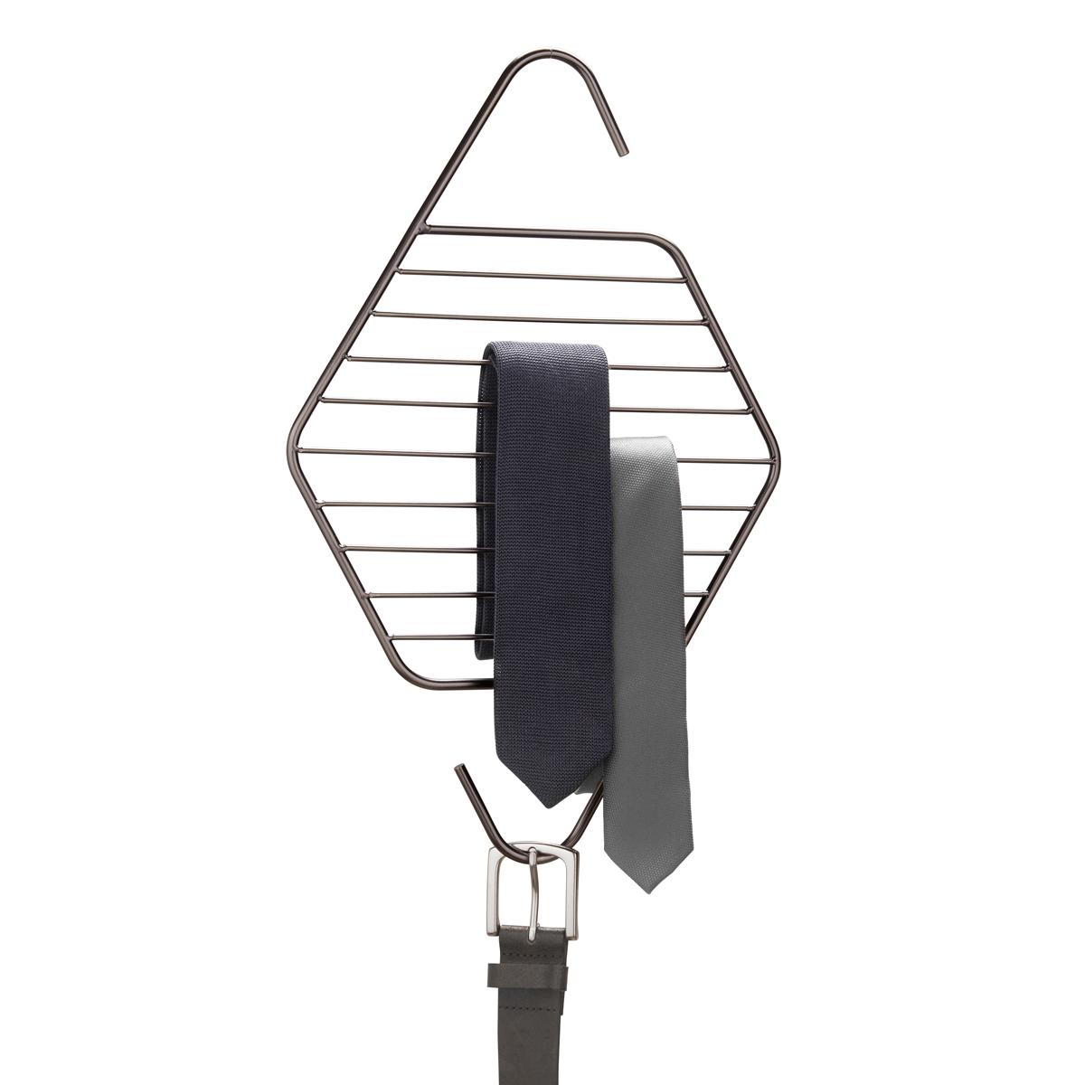 Органайзер для галстуков и ремней Umbra Pendant1004900000360Пополнение в коллекции Pendant, которую характеризуют лаконичные геометрические формы. Металлические перекладины предназначены для хранения галстуков и ремней.Может быть подвешен к стене, штанге для вешалок или дверной ручке.