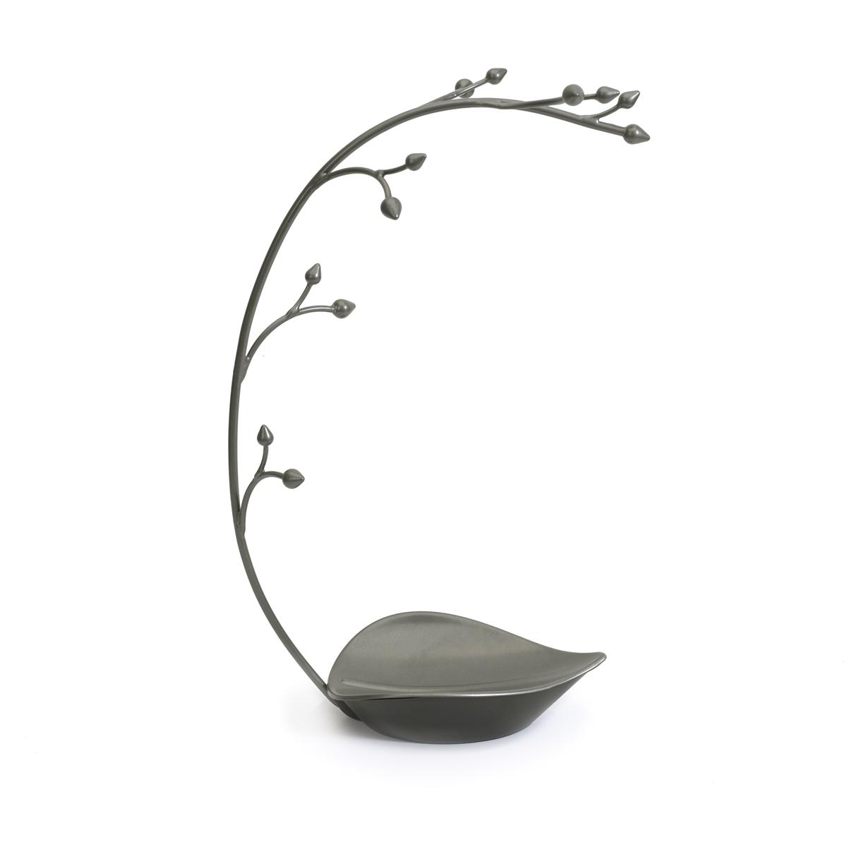 Подставка для украшений Umbra Orchid299340-296Удобная подставка для украшений - лучший способ для аккуратного хранения ваших драгоценностей.На 12 импровизированных выступов-держателей можно повесить кольца, браслеты, цепочки. Брошки, увесистые ожерелья, кулоны можно сложить в поддон у основания подставки. Цвет подставки создает впечатление бронзового напыления.
