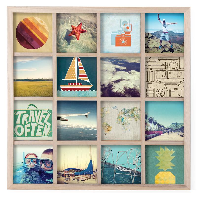 Панно для фотографий Umbra Gridart, цвет: бежевый25051 7_зеленыйПанно для фотографий Umbra Gridart квадратной формы выполнено из дерева. Панно для 16 фотографий поможет вам создать коллаж из самых счастливых жизненных моментов. Можно использовать фотографии, открытки, письма, вырезки из журналов и карты - настоящий полет фантазии!Размер каждого фото: 10,2 х 10,2 см.