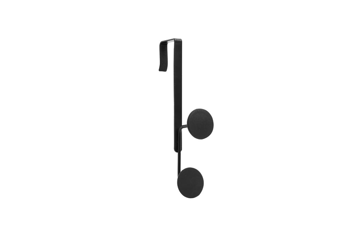 Крючок на дверь Umbra Yook, двойной, цвет: черныйPANTERA SPX-2RSДвойной крючок с прорезиненными насадками, похожими на сувенирные значки. Благодаря такой форме крючков, вещи будут надежно закреплены, а ткань на них не растянется. Навешивается на дверь при помощи специальных креплений, которые входят в комплект.Каждый крючок выдерживает нагрузку в 2,25 кг.