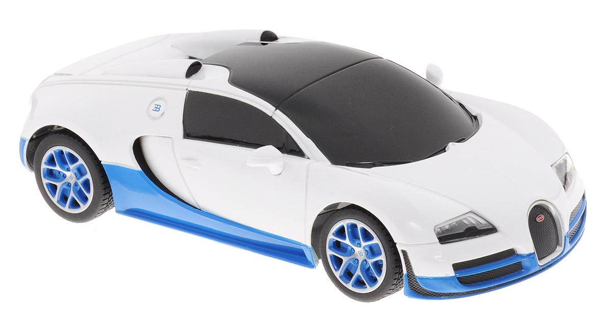 Rastar Радиоуправляемая модель Bugatti Veyron 16.4 Grand Sport Vitesse цвет белый синий масштаб 1:24