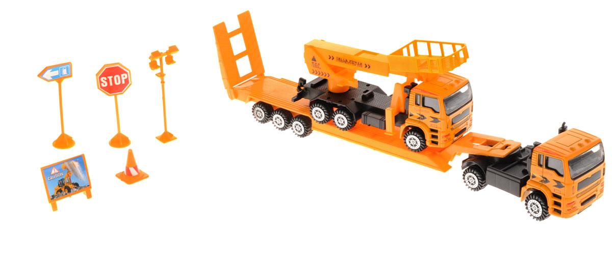 Junfa Toys Автовоз инерционный с автовышкой