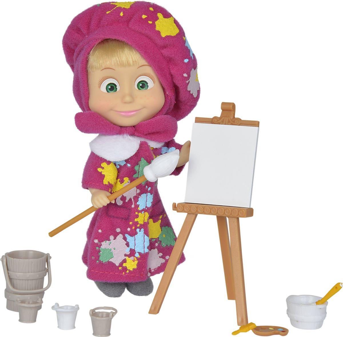 Simba Игровой набор Маша-художница 3 colors sleeveless dress 2016 summer style floral print club dresses vintage polyester elegant cheap women cloth