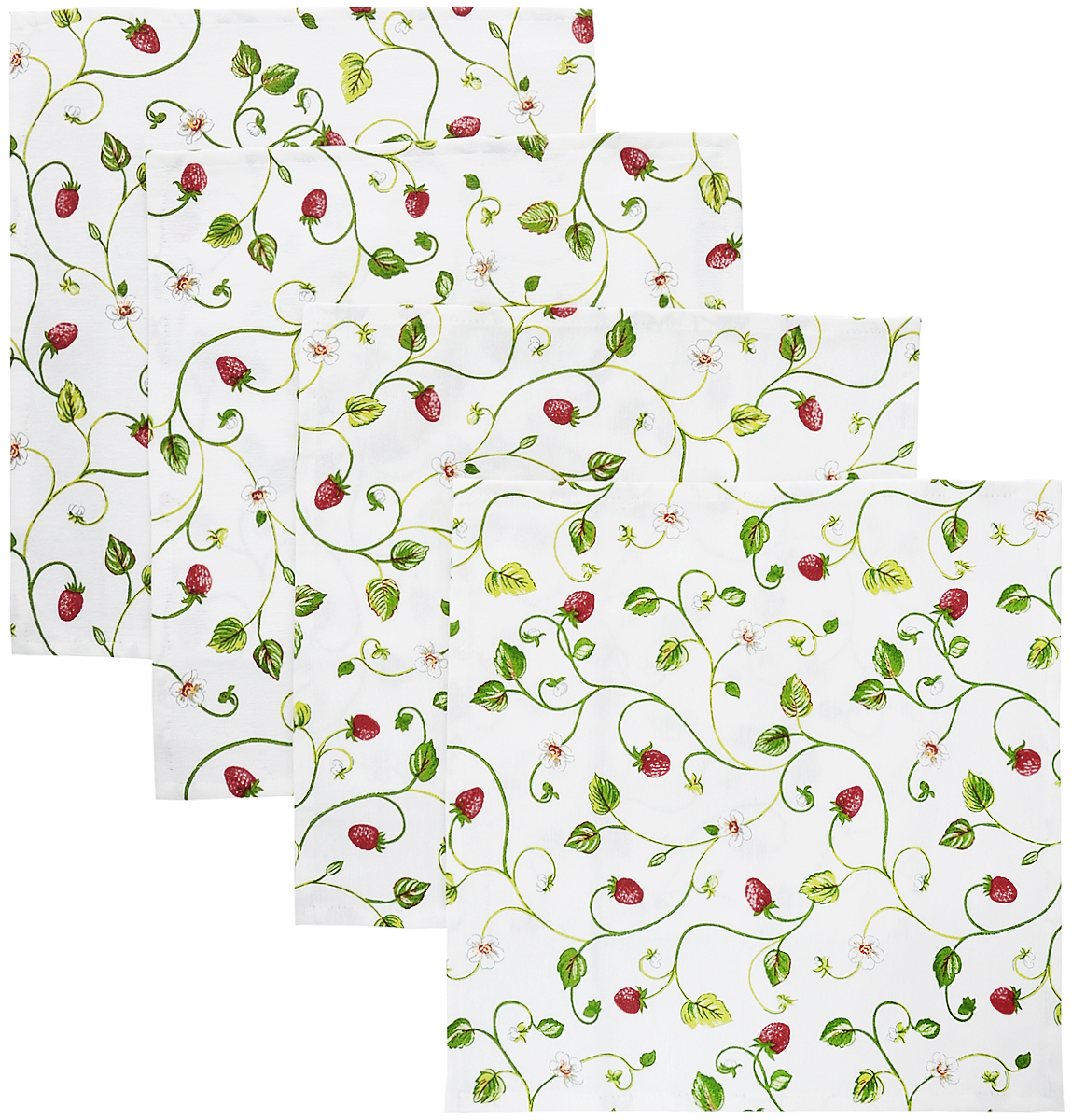 Набор сервировочных салфеток Kauffort Флора, 32 x 32 см, 4 штVT-1520(SR)Набор Kauffort Флора, изготовленный из 75% хлопка и 25% полиэстера, состоит из четырех сервировочных салфеток. Изделия имеют оригинальный дизайн. Салфетки защищают поверхность стола от воздействия температур, влаги и загрязнений, а также украшают интерьер. Размер салфетки: 32 х 32 см.