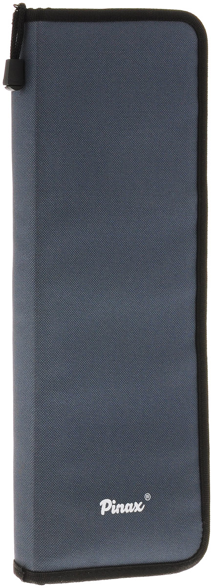 Pinax Пенал для кистей большойZIPCASE-LПрактичный пенал для кистей Pinax изготовлен из прочного текстиля серого цвета.Изделие содержит одно отделение, которое закрывается на молнию. Внутри расположены 16 индивидуальных ячеек для принадлежностей (по 8 с каждой стороны) и два больших кармана, расположенные ниже ячеек. Пенал оснащен петлей, которая позволит удобно его зафиксировать.Стильный пенал для кистей - находка для настоящего художника!