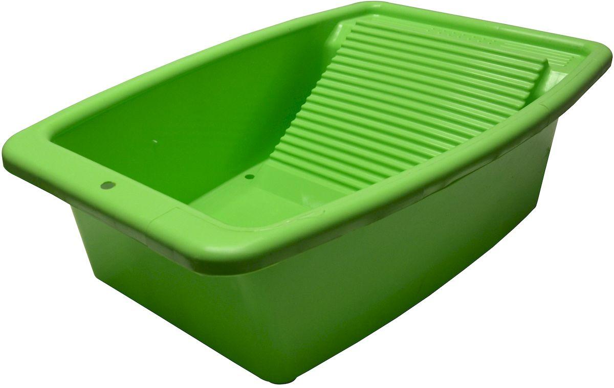 Таз со стиральной доской Коллекция, цвет: зеленый, 34 л70061_розовыйТаз со стиральной доской