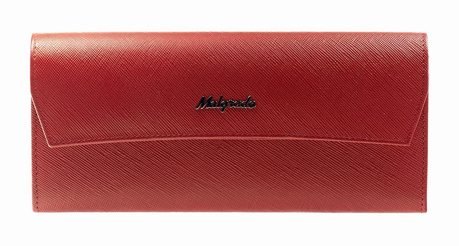 Кошелек женский Malgrado, цвет: красный. 75504-13801DW16-11135_914Элегантный кошелек Malgrado изготовлен из высококачественной натуральной кожи с декоративным фактурным тиснением, оформлен металлической фурнитурой с символикой бренда.Изделие содержит одно отделение, закрывающееся клапаном на кнопку. Внутри расположены: три отделения для купюр, карман для мелочи на застежке-молнии, два кармана для мелких документов, три кармашка для визиток и кредитных карт. Снаружи, на задней стороне кошелька, расположен открытый карман. Изделие упаковано в фирменную металлическую коробку.Стильный кошелек не оставит равнодушной ни одну представительницу прекрасной половины человечества.