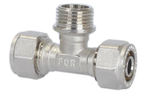 Тройник Fornara, Ц - Н - Ц, 16 x 1/2 x 16BL505Тройник Fornara предназначен для соединения металлопластиковых систем. Применяется для водоснабжения.Диапазон рабочих температур: от +5°C до +95°C.Корпус покрыт никелем и хромирован гальваническим способом.Изделие полируется специальным способом.
