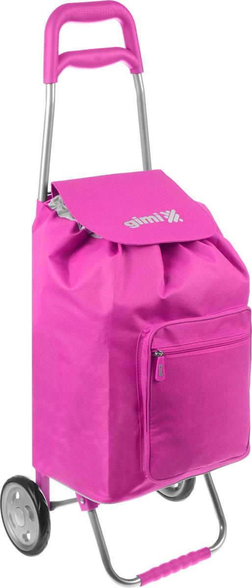 Сумка-тележка Gimi Argo, цвет: фуксия, серый, 45 л09840-20.000.00Хозяйственная сумка-тележка Gimi Argo выполнена из высококачественного полиэстера со стальным каркасом. Она оснащена 1 вместительным отделением, закрывающимся на шнурок. Спереди расположен карман на застежке-молнии. Сумка водоустойчива, оснащена 2 колесами, обеспечивающими удобство транспортировки. Для компактного хранения сумку можно сложить.Максимальная нагрузка: 30 кг.