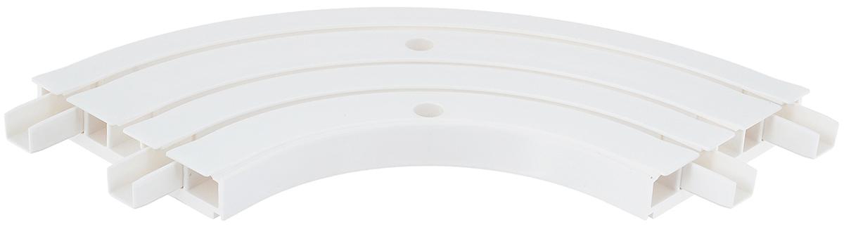 Закругление для потолочной шины Эскар, внутреннее, трехрядное, 90°1004900000360Внутреннее закругление Эскар является дополнительным элементом карниза, которое служит для создания поворота потолочного профиля на 90°. Изделие обеспечивает удобство в использовании всей конструкции карниза. Оно изготавливается из высокопрочного и экологически безопасного пластика. Качественное сырье гарантирует прочность профиля и неизменный цвет на протяжении многих лет. Закругление имеет три ряда и предназначено для потолочного шинного карниза. Ширина закругления: 8,8 см. Высота закругления: 1,7 см.