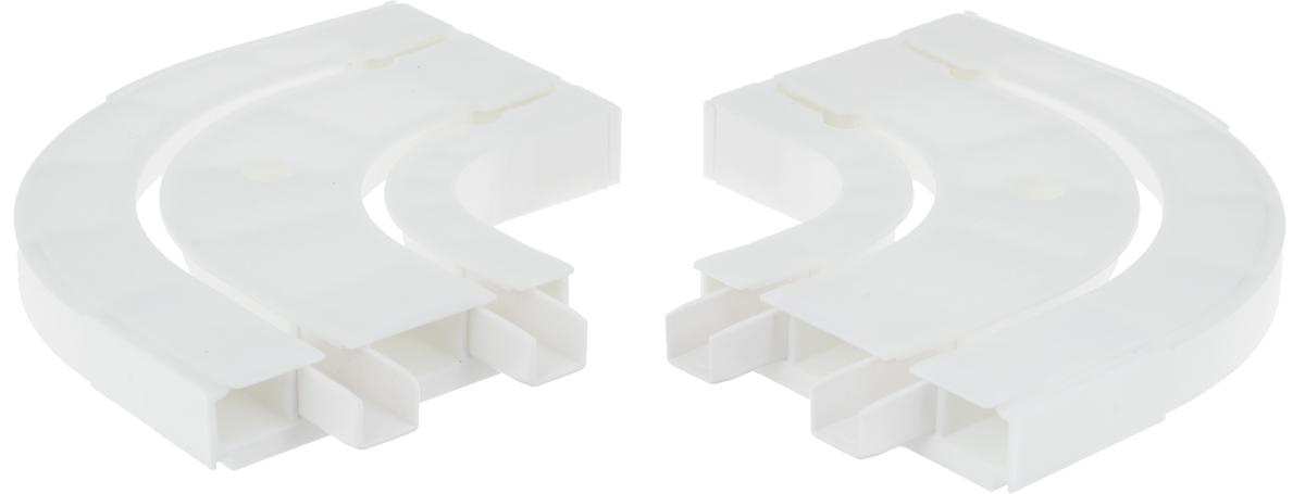 Оконцовка для потолочной шины Эскар, двухрядная, 2 шт26.02ТО.654К.320Оконцовки Эскар являются дополнительными элементами карниза, которые служат для создания поворота на концах потолочного профиля. Изделия обеспечивают удобство в использовании всей конструкции карниза. Они изготавливаются из высокопрочного и экологически безопасного пластика. Качественное сырье гарантирует прочность профиля и неизменный цвет на протяжении многих лет. Оконцовки имеют два ряда и предназначены для потолочного шинного карниза. Комплектация: 2 шт. Высота оконцовки: 1,7 см.Ширина оконцовки: 8 см.