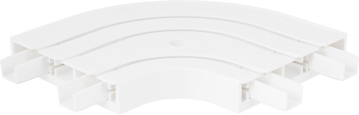 Закругление для потолочной шины Эскар, наружное, трехрядное, ширина 8,8 см28.02ТО.33ВС.250Наружное закругление Эскар является дополнительным элементом карниза, которое служит для создания поворота потолочного профиля. Изделие обеспечивает удобство в использовании всей конструкции карниза. Оно изготавливается из высокопрочного и экологически безопасного пластика. Качественное сырье гарантирует прочность профиля и неизменный цвет на протяжении многих лет. Закругление имеет три ряда и предназначено для потолочного шинного карниза. Ширина закругления: 8,8 см.Высота закругления: 1,7 см.