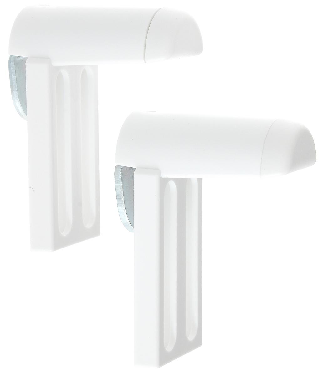 Крепление для фиксации рулонных штор Эскар, универсальное, на распашное окно, 2 шт. 13000SS 4041Универсально крепление Эскар предназначено для фиксации рулонных штор, плиссе на распашное окно без сверления. Выполнено из высококачественного пластика. Комплектация: 2 шт. Размер крепления: 5,2 х 2,3 х 3,8 см.