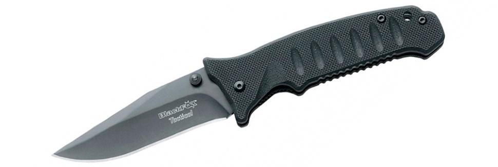 Нож Fox Black Fox Tactical, цвет: черный, длина клинка 7,5 см. OF/BF-114 TOF/BF-114 TВы давно находитесь в поиске такого тактического ножа, который был бы не только прочным, износостойким и функциональным, но еще и доступным по своей цене?Сделайте свой выбор в пользу модели Black Fox Tactical, OF/BF-114 T. Легкий, но исключительно острый и качественный, он непременно вам понравится.Клинок изготовлен из нержавеющей стали 440С твердостью 55-56 HRC, стойкой к внешним неблагоприятным воздействиям.Рукоять анатомической формы изготовлена из прочного пластика.Нож оборудован системами блокировки и открывания одной рукой, что делает его весьма удобным и безопасным.Общая длина ножа: 17 см.Длина клинка: 7,5 см.Толщина клинка: 2,5 мм.