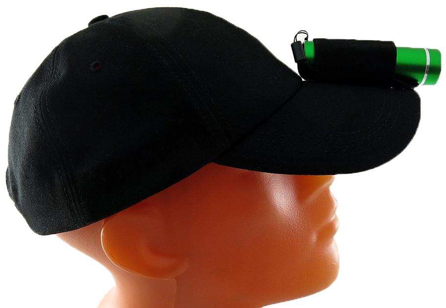ФонарьSolaris T-5 NG, с бейсболкой, цвет: зеленый, черныйS3210Фонарь-бейсболка Solaris сочетает в себе достоинства дальнобойного налобного фонаря и удобной классической бейсболки. Можно применять в туристических походах, на рыбалке и охоте, при производстве ремонтных работ. Конструкция состоит из бейсболки с креплением на козырьке для компактного ручного фонаря Solaris T-5: - Эластичная петля-резинка и тканевый хомут на липучке, поверх петли, надежно фиксируют фонарь. - Фонарь можно снять с бейсболки и пользоваться фонарем и бейсболкой раздельно.Фонарь снабжен современным светодиодом мощностью 1 Ватт и коллиматорной линзой. Мощность светового потока 60 люмен, дальность эффективного излучения света 100 метров. Фонарь имеет 1 режим работы. Влагозащищенный - стандарт IPX6. Материал корпуса - высококачественный анодированный алюминий. Бейсболка имеет регулируемый размер оголовья 56-60 см. Быстрая регулировка размера производится хлястиками на липучке в задней части оголовья. С внутренней стороны бейсболки оголовье снабжено тканевым бортиком для комфортного ношения. Козырек с жесткой основой предохраняет глаза от солнца и дождя. Материал бесболки - высококачественный 100% хлопок. Особенности конструкции фонаря Solaris T-5: - Кнопка включения расположена в хвостовой части фонаря.- Фонарь работает от трех батарей AAA (в комплекте). Кассета для батареек внутри фонаря.- Время работы фонаря от батарей: 5 часов.- Резиновое уплотнение в хвостовике фонаря. Размеры фонаря: 9 х 2,6 см.