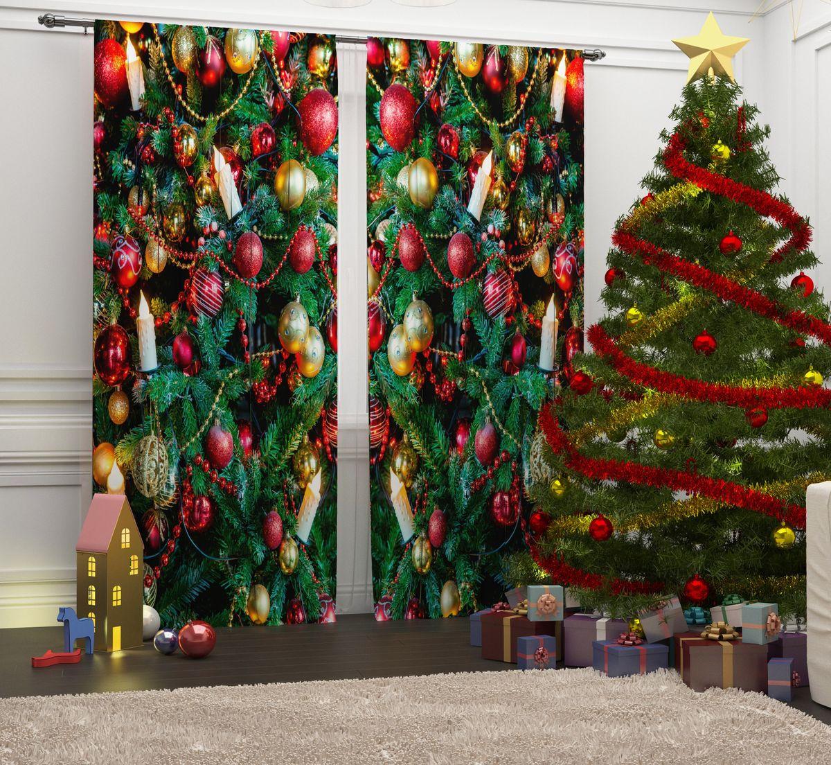 Фотошторы Сирень Елочные игрушки, на ленте, высота 260 см. 07117-ФШ-ГБ-001ES-412Перед новогодними праздниками каждая хозяйка или хозяин хотят украсить свой дом. Мы предлагаем оригинальное решение, украсить Ваше окно фотошторами с новогодней тематикой. Новогодние фотошторы Сирень станут отличным подарком на Новый год. Подарите радость праздника себе и Вашим близким людям!Текстиль бренда «Сирень» - качество в каждом сантиметре ткани!Крепление на карниз при помощи шторной ленты на крючки.В комплекте: Портьера: 2 шт. Размер (ШхВ): 145 см х 260 см. Рекомендации по уходу: стирка при 30 градусах гладить при температуре до 150 градусов Изображение на мониторе может немного отличаться от реального.