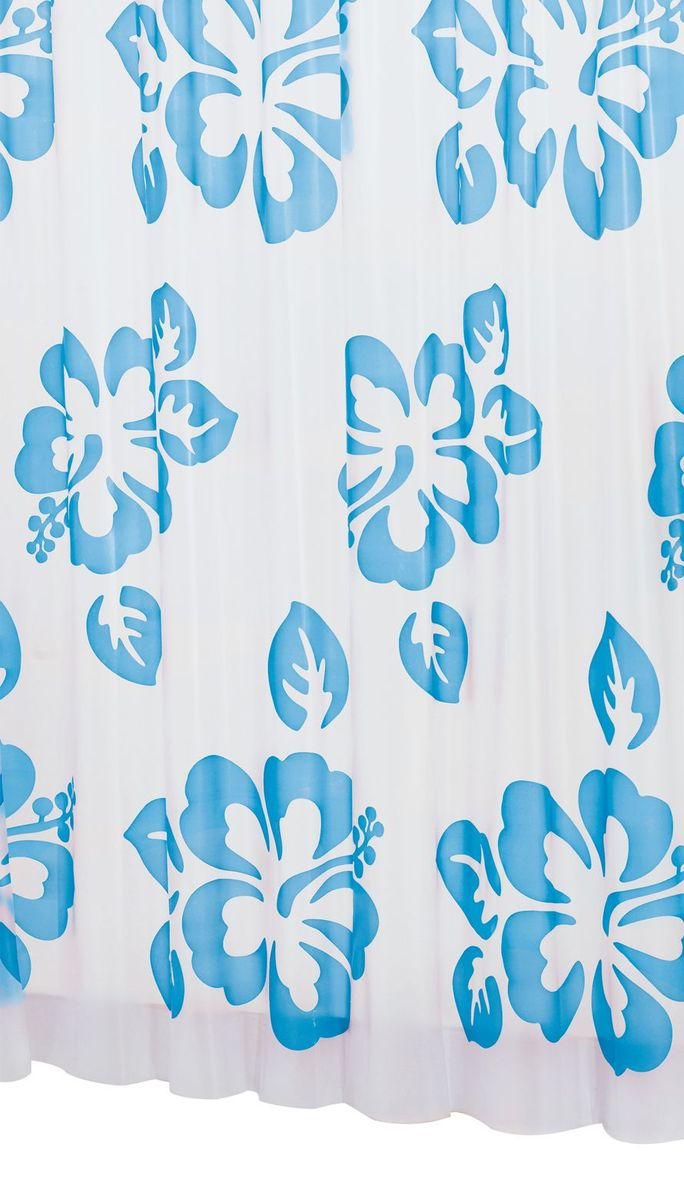 Штора для ванной комнаты Ridder Flowerpower, цвет: синий, голубой, 180 х 200 см32353Высококачественная немецкая штора для душа создает прекрасное настроение.Продукты из эколена не имеют запаха и считаются экологически чистыми.Ручная стирка. Не гладить.